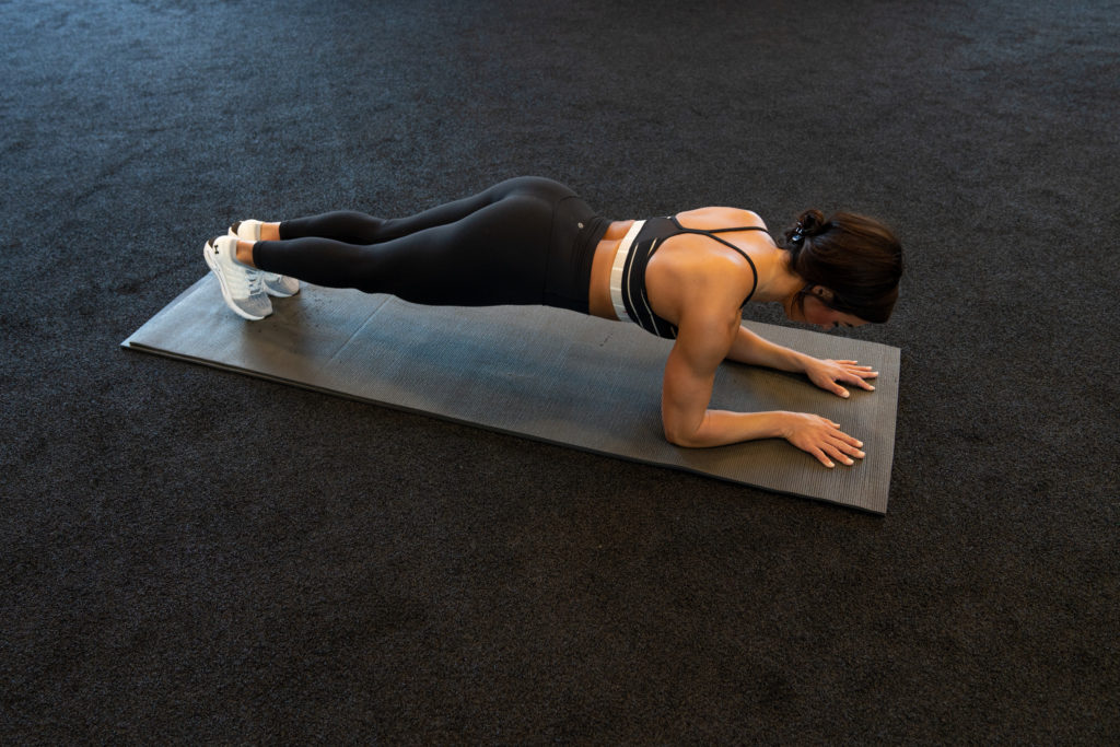 Female doing a plank.